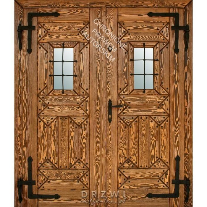 Drzwi-rustykalne-dwuskrzydłowe-do-karczmy