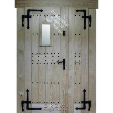 drewniane-drzwi-dwuskrzydłowe-zewnętrzne