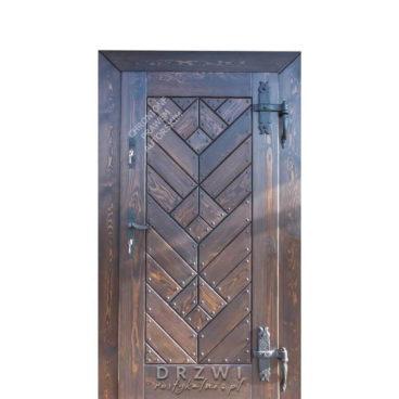 drewniane-drzwi-wejściowe-okucia-tulipan