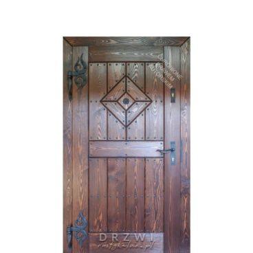 drzwi-drewniane-zawiasy-kowalskie-płomienie