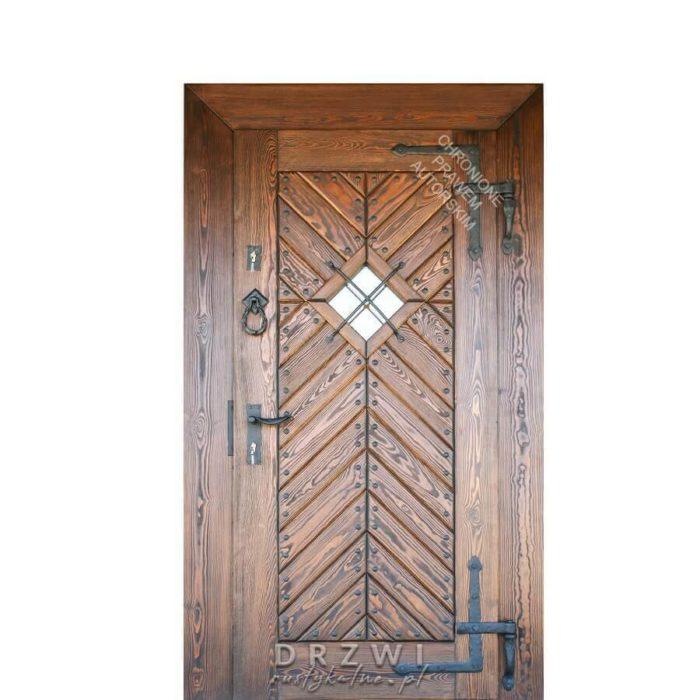 drzwi-wejściowe-rustykalne-jodełka