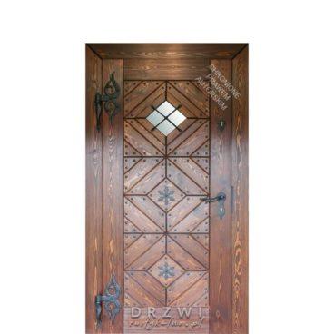 drzwi-wejściowe-rustykalne-zdobienia-kowalskie