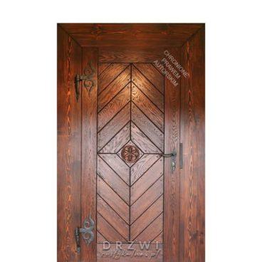 drzwi-wejściowe-szczotkowane-z-rozetą