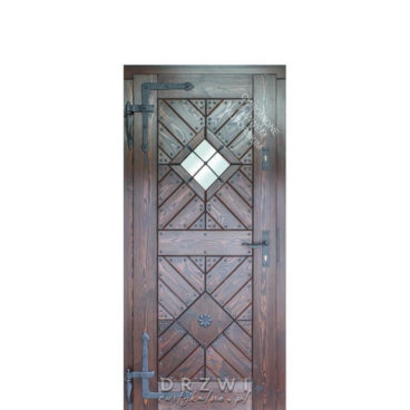 drzwi-wejściowe-z-kowalską-rozetą