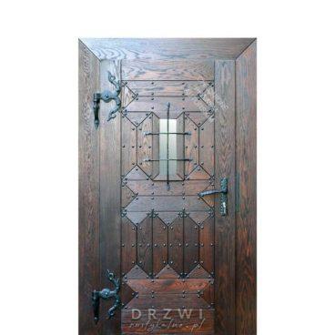 drzwi-wejściowe-zamkowe-drewniane
