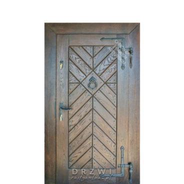 drzwi-wejsciowe-drewniane-retro