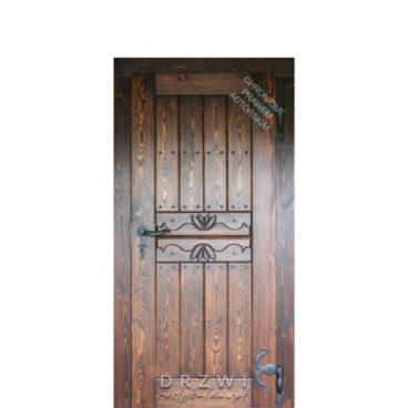 drzwi-wewnętrzne-rustykalne-motyw-lilii