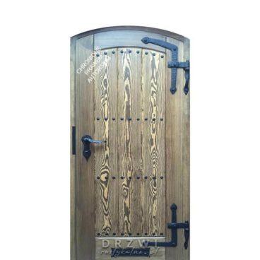 drzwi-zewnetrzne-łukowe-szczotkowane