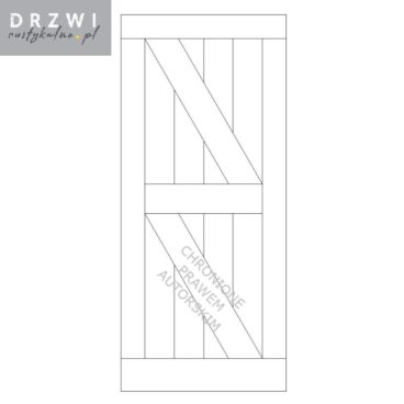 Proste drzwi drewniane przesuwne typu barn doors