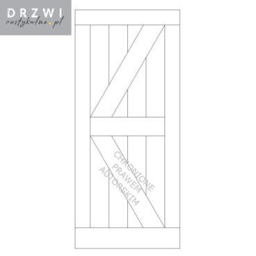 Rustykalne drzwi typu barn doors